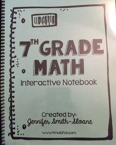 7th grade math workbook from Teachers Pay Teachers