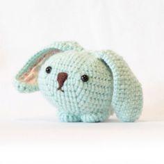 Mint green bunny rabbit plush crochet bunny toys by whimsyloveswit, $32.00