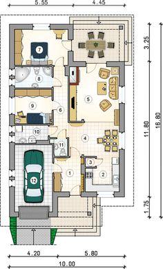 Flat House Design, Best Modern House Design, Dream House Plans, House Floor Plans, House Construction Plan, Home Design Floor Plans, Pole Barn Homes, Architecture Plan, House Layouts