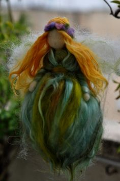 Green Fairy - Needle Felted