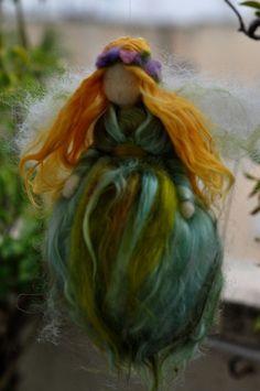 Green Fairy - Needle Felted