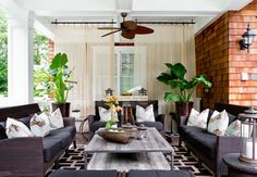 What makes a porch feel more like a room? The accessories. Potted plants can create a sense of enclosure in the great outdoors and also add ...