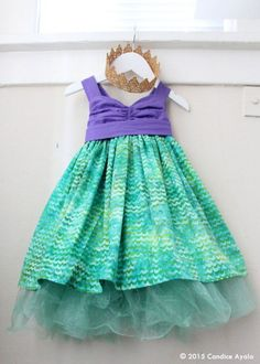Little Mermaid Themed Birthday Dress  Ariel the Little Mermaid. Cute outfit for a mermaid birthday party. I love this!