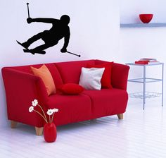 Wall #decals vinyl #decal sticker art murals decor man #winter sport skiing #kj300,  View more on the LINK: http://www.zeppy.io/product/gb/2/361619042189/