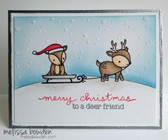 Lawn Fawn - Toboggan Together _ super adorable card by Melissa via Flickr