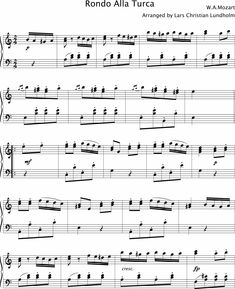 Smashwords – Rondo Alla Turca Pure sheet music for piano by Wolfgang Amadeus Mozart arranged by Lars Christian Lundholm - A book by Pure Sheet Music - page 1