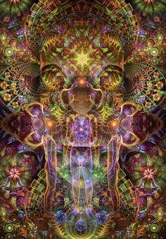 50 Best Creative Visionary Digital and Fractal Art Images - TheDesignBlitz Cosmic Egg, Art Visionnaire, Psy Art, Spirited Art, Mystique, Visionary Art, Sacred Art, Psychedelic Art, Psychedelic Experience