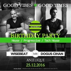 Wisebeat BDay GVGT @ Anjelique 20151225 B2B w Dogus Cihan by Wisebeat | Free Listening on SoundCloud