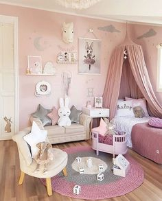 """2,328 Likes, 17 Comments - Scandinavian Homewares (@istome_store) on Instagram: """"How pretty is this pink little girl's room by @mamma_malla  Miffy lamp available online  .…"""""""
