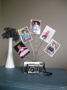 Vintage Kodak Camera Photo Holder  Repurposed by SalvageShack