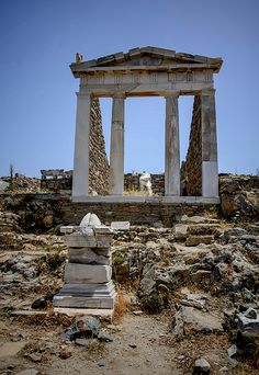 The Temple of Isis, Delos Greece