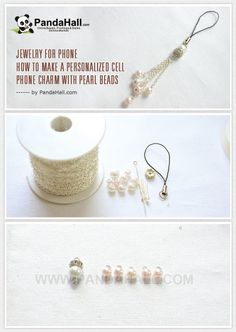 Jewelry for Phone - How to Make a Personalized Cell Phone Charm with Pearl Beads