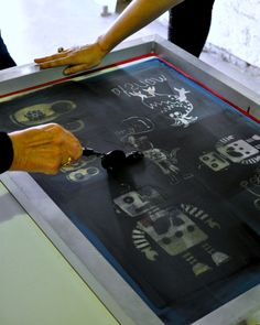 Screen Printing - old screens and/or large prints of new image