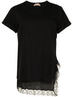 Cotton Lace, Black Cotton, Short Sleeves, Short Sleeve Dresses, N21, Lace Trim, Layers, Boutique, Cuffs