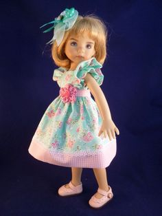"""Summertime Blossoms Outfit for 13"""" Effner Little Darling Dolls by Apple in Dolls & Bears, Dolls, By Brand, Company, Character 