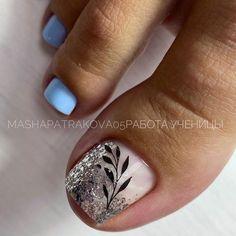 Toenail Art Designs, Pedicure Nail Designs, Pedicure Nails, Mani Pedi, Cute Toe Nails, Cute Toes, Toe Nail Art, Santa Nails, Summer Gel Nails