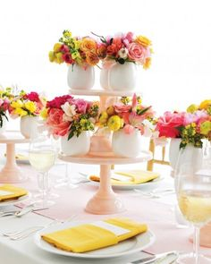 Fresh-Cut Favors, encourage guests to take pieces of the centerpieces