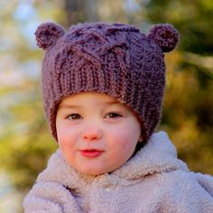 Little Bear Kid's Cable Hat Crochet pattern by Two Girls Patterns - head over to LoveCrochet to download the pattern and make your own!