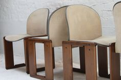 fantastic set of four Dialogo chairs by Afra and Tobia Scarpa, 1973 www.gallerygush.com