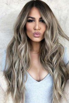 60 Balayage Hair Ideas in Brown to Caramel Tone Ash Blonde Balayage ❤ Balayage Is The Hottest New Hair Trend! Here we have collected our favorite balayage hairstyles. Now, you will learn how to get it so that it is absolutely best for you! Blonde Balayage Highlights, Hair Color Balayage, How To Balayage, Blonde Hair With Brown Highlights, Thick Highlights, Balayage Brunette To Blonde, Honey Balayage, Blonde Pixie, Brown Blonde Hair