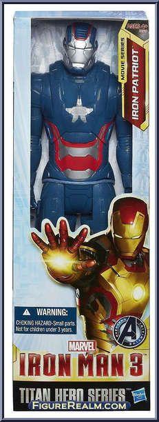 Iron Patriot (Movie) from Iron Man 3 - Movie - Titan Hero Series manufactured by Hasbro [Front]