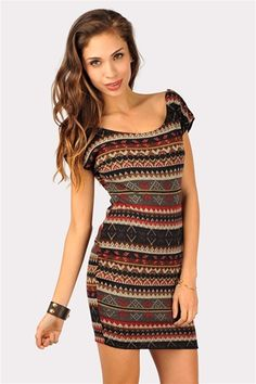 Tribal Dress... would be cute with leggings and boots for winter