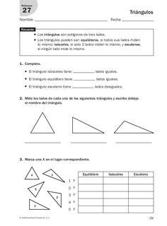Math Stem, Math 2, Math Class, Teaching Aids, Teaching Math, Triangle Worksheet, Math Exercises, Learning Tools, Math Activities