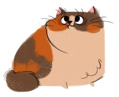 cat drawing cats calico Character Design daily cat drawings ...
