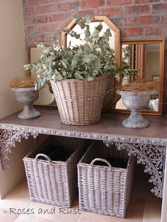 Great tutorial on building a french console table.