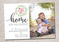 Photo Christmas Card New Address Card: PRINTABLE by CardsEtcetera