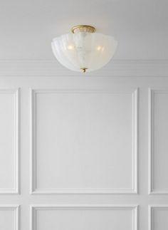 Rosehill Semi-Flush, Antiqued Brass/White $599.00
