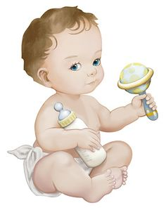 Cartoon Girl Images, Baby Cartoon, Baby On The Way, Mom And Baby, Painting For Kids, Art For Kids, Kids Photo Album, Baby Girl Clipart, Scrapbook Bebe