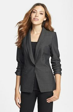Halogen® Grid Jacquard Sheen Jacket available at #Nordstrom