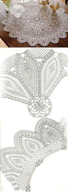 Crochet Round-Table Cloth Napkin...♥ Deniz ♥