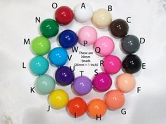 Chunky bubblegum beads 20mm acrylic beads QTY 50 by beadstobows