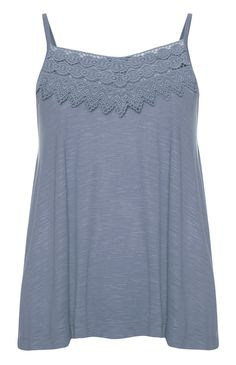 Primark - Blue Crochet Front Swing Cami