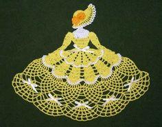 Ms Mum Crinoline Girl Doily-crochet pattern to buy Crochet Dollies, Crochet Angels, Crochet Doily Patterns, Crochet Girls, Crochet Home, Thread Crochet, Love Crochet, Crochet Motif, Vintage Crochet