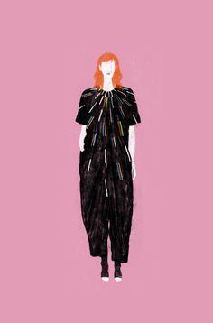 artista illustratore New York moda pattern colori vivaci disegni   Lancia…