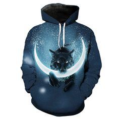 Wolf Hoodie 3D Full Printing //Price: $46.00 & FREE Shipping //     #hokages   #naruto #narutouzumaki #shinobi #shippuden #manga Wolf Hoodie, Black Hoodie, Naruto Uzumaki, Funny Wolf, Anime Store, Tshirts Online, Hooded Sweatshirts, Manga, Digital Prints