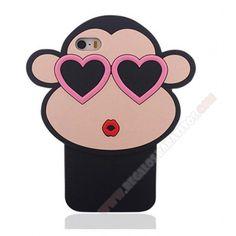 Carcasa 3D divertida diseño mono con gafas para iPhone 6 Plus/6S Plus