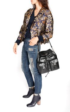 Hibiscus printed Jacket designed by Prada