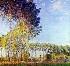 Claude Monet - Álamos al borde del Epte, vista de la marisma
