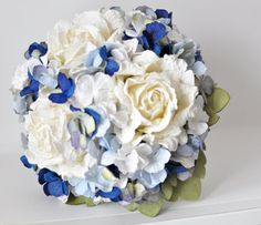 Navy wedding flowers midnight blue ocean blue by AlternativeBlooms, $140.00