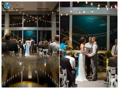 Virginia Aquarium Wedding | Twinkle and String Lights Wedding Ceremony | Daissy Torres Photography