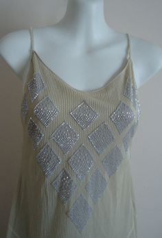 WOW!!!Vintage 1920s Style Chloe Silk Beaded Dress by MadMakCloset, $425.00