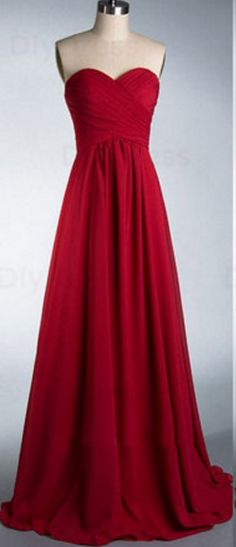 Dark Red Chiffon Formal Occasion Dress Bridesmaid Dress evening dresses