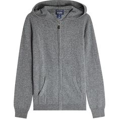 Woolrich Cashmere Zip-Up Hoodie (450 CAD) ❤ liked on Polyvore featuring tops, hoodies, grey, gray hoodies, sweatshirt hoodies, grey hoodie, cashmere hoodies and gray top