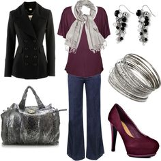 Just Plum Crazy, created by lovinthatstyle.polyvore.com