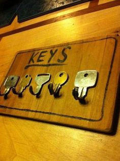 How to Make Hooks and Hangers from Old Keys