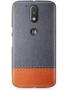 CASE U Moto G4 Plus Cover/Case + Free Tempered Glass, Printed GrayTan Leather Designer Premium PolyCarbonate Case Back Cover for Motorola Moto G4 Plus: Amazon.in: Electronics